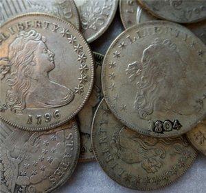 США драпированные бюст доллар 11 шт. (1794-1804 ) монеты копия Archaize старый глядя США монеты латунь ремесла монеты\вся продажа Бесплатная доставка