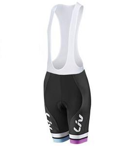 Liv cuissard à bretelles 2017 Team Professional Cuissard Vélo Ropa Ciclismo Vélo 3D Rembourré Coolmax Gel Shorts Fitness