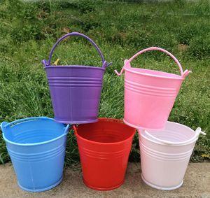 Color Large Plastic Keg Candy Color Flower Pot To Receive Barrel European-Style Flower Implement Iron Barrel Toys Barrels Wedding Decoration