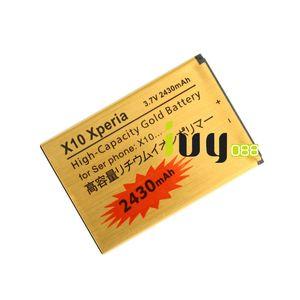 5pcs lot 2430mAh Gold Replacement Battery For Sony Xperia X10 BST-41 XPERIA X1 X2 A8i M1i Xperia PLAY Z1i R800 Batteries Batteria Batterij