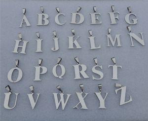 26pcs / lot Mix Alphabets Mode Hommes Bijoux En Acier Inoxydable Lettre Pendentif Charmes Pour Bricolage Collier Porte-clés