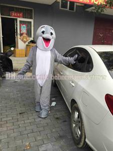 mascotte en peluche dauphin gris mignon costume type adulte ventes à chaud dans le monde entier, la vente de la livraison gratuite mascotte des dauphins.