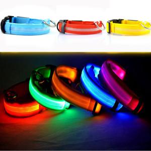 Neue LED Lade Haustier Hundehalsband Nacht Sicherheit LED Licht Blinkt Glow Hundehaustier Leine Hundehalsband Flashing Sicherheit Kragen S-M-L-XL WX-G11