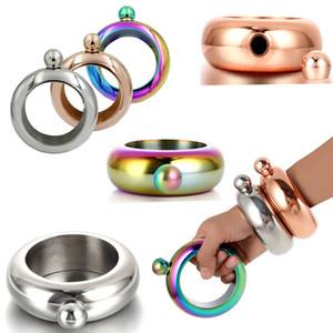 3.5 온스 스테인레스 스틸 주크 팔찌 알코올 힙 플라스크 깔때기 Bangles Bracelet Jewelry 선물 깔때기 Bangle DHL 무료