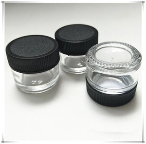 5ML Clear Storage Glass Jar Empty Transparent Glass Jar 5 ML with Plastic Lid Screw Cap Non Stick Thick Oil Container
