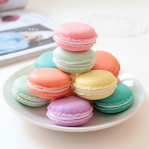 Cute Candy Color Macaron Mini Cosmetic Jewelry Storage Boxes Jewelry Box Pill Case Birthday Gift Display Macaron jewelry case