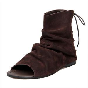 US Size 6-10 Vintage uomini in vera pelle stile romano sandali gladiatore lace up sandali da spiaggia estate stivali