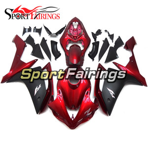 Injection Dark Red Black New Fairings per Yamaha YZF1000 YZF R1 2007 Plastica ABS ABS Fairings Moto Fairing Kit Bodywork Cowlowings