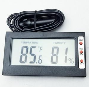 مصغرة المحمولة الرطوبة درجة الحرارة الرطوبة متر ميزان الحرارة الرقمية lcd عرض مئوية فهرنهايت تحويل بالأسلاك
