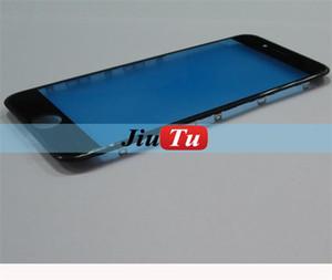 10 قطعة / الوحدة للآيفون 6 جرام 6 زائد 6 ثانية 6 ثانية زائد الأصلي شاشة lcd لوحة الزجاج الأمامي مع الحافة الإطار استبدال أجزاء أسود / أبيض