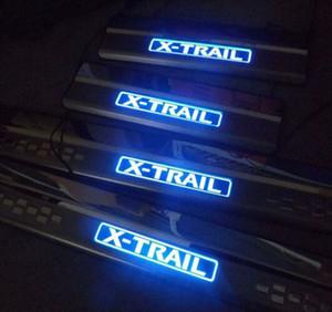 자동차 스타일링을위한 새로운 2014 Nissan x-trail door sill with LED 스트립 환영 페달 자동차 액세서리 4pcs