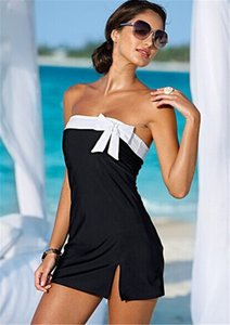 One Piece Swimsuit Sexy Desgaste da Noite Vestido de Cobertura Ups Swimsuit Holiday Beach Dress Mulheres Swimwear Vestido Bownot
