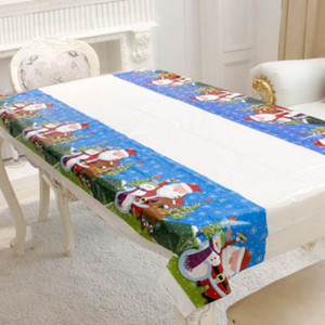 Disposable Cloth Tablecloth Christmas Christmas Dinning Kitchen Table Party Rectangular Home Decorations Table Covers For Oilproof PVC Ovho