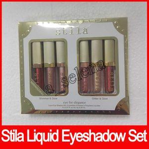 مجموعة ستيلا العين للأناقة ماكياج 6 ألوان طبعة محدودة السائل ظلال العيون مجموعة مستحضرات التجميل عينيه 6PCS / مجموعة