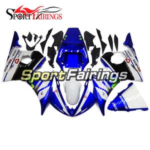 Einspritzungs-Verkleidungen für Yamaha YZF600 YZF R6 03 04 2003 - 2004 Einspritzungs-ABS Verkleidungen Motorrad-Verkleidungs-Installationssatz-Körper-Rahmen-Blau-Weiß-Abdeckungen