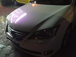 Premium Pearl Gloss Bianco / Viola Perla Car wrapping Film con Bubble Free per autoadesivo Vinyle Flip - flop foil Formato: 1.52 * 20m / Roll