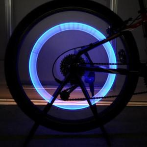 1 stück wasserdichte auto fahrrad led reifen rad ventil led blitzlicht neuankömmling bunte radfahren automatische rad sprach licht