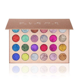 Whosale Glitter Eyeshadow Makeup CLEOF Cosmetics 24 colori Glitter Eyeshadow Palette Beauty Shimmer Eye Shadow Spedizione DHL