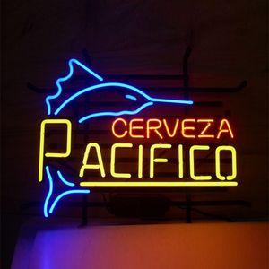 17 * 14 pollici FAI DA TE Vetro LED Neon Sign Flex Corda Luce Indoor / Outdoor Decorazione per Pacifico Cerveza RGB Voltaggio 110 V-240 V