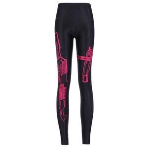 Kadın Gun Dijital Baskı Elastik Ince Spor Tayt Pantolon Kadın Artı Boyutu Moda Baskılı Streç Spor Bodycon Pantolon Boyutu S-4XL