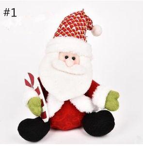 Детские рождественские плюшевые куклы Санта-Клаус игрушки Дети Дети Хэллоуин мягкие игрушки Рождественский фестиваль творческие подарки YXT 001
