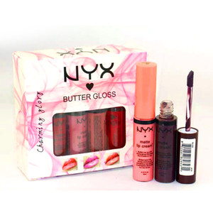 2016 최신 브랜드 NYX 버터 글로스 12 색 립글로스 챠밍 글로리 매트 립 크림 DHL 무료 배송