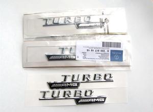 Alta qualidade ABS 3D adesivo corpo do carro vara Para Mercedes Benz turbo AMG carregamento TURBO decoração 2 pçs / set