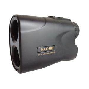 العلامة التجارية الجديدة عالية الدقة 600 متر أسود الغولف المدفوعة مكتشف الليزر rangefinder مع pinseeker وظيفة / جهاز yardage