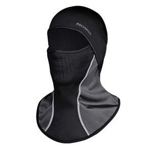 Rockbros Winter Cycling Cap Windproof Thermal Face Mask Balaclava Bandana Sport Ski Running Bike Bicycle Neck Hat Head Scarf Men SC009
