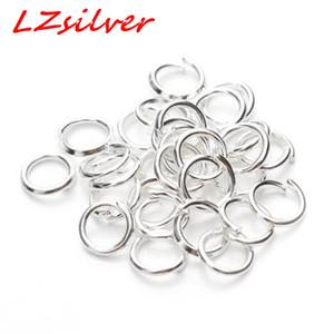 MIC 500 шт. ювелирные разъемы посеребренные 5 мм перейти кольца выводы DIY ювелирных изделий