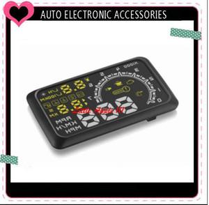 5.5 인치 W02 OBD II 차 HUD 머리 위 전시 안전 장치 속도 감시자 2 개의 색깔 전시