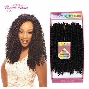 Envío gratis pelo trenzado sintético pre enredado savana jerry rizado trenzas Extensiones de cabello Ombre Hair Weaves brasileño para mujeres negras
