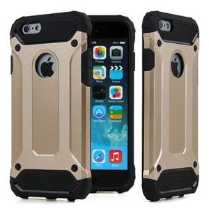 Fashion dual layer defender armor hard plastic case for apple iphone 6s plus 6s se 5s heavy duty drop proof phone covers cases