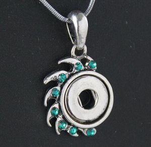 New blue fai da te pulsante a scatto 12mm collana pendente in lega 12mm pezzi NOOSA bottoni a pressione gioielli Holand con strass drop shipping