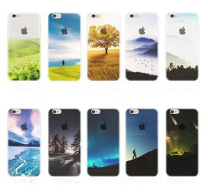 Per iphone 7 Trasparente TPU trasparente Scenario Case Bella Mountain City Tower Snow Scenery London Back Cover per iPhone 6s plus