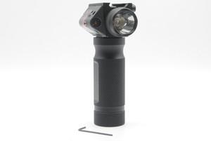Ücretsiz Kargo Taktik Foregrip El Kavrama CREE LED El Feneri Kırmızı Lazer Sight Fit 20mm Ray