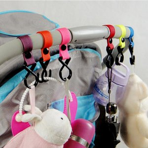 New Plastic Baby Stroller Pushchair Car Hanger 2 Hooks Strap Multi Purpose H2010179
