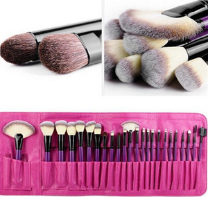 High-end Professional 24 Pcs Makeup Brush Set Synthetic Hair Easy Portable Makeup Tool Kits