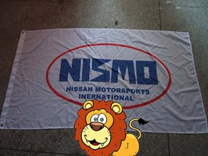 Bandeira do logotipo nismo, nismo car racing club bandeira, 90 * 150 CM polyster bandeira, 100% poliéster 90 * 150 cm, Impressão Digital