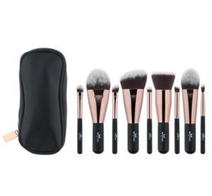 Anmor Schöne Reise 9 Stücke Make-Up Pinsel Set Synthetische Mini Make-Up Pinsel mit Tasche Mbc03 Kosmetik Pinsel Bilden Werkzeuge Kit