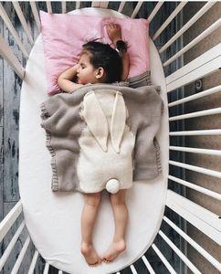 2017 estallidos de mantas de orejas de conejo tridimensionales mantas de punto para niños niños y niñas esteras de playa para bebés