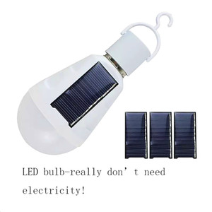 E27 Solar Lichter E27 7W Solarlampe 85-265V Energieeinsparung Licht LED-Lampen Intelligente Lampe Wiederaufladbare Solar-Notfall-Birne Tageslicht