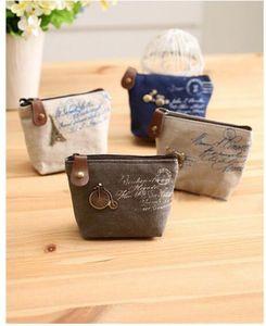 2016 new Vintage canvas bag Coin keychain keys wallet Purse change pocket holder organize cosmetic makeup Sorter Y604