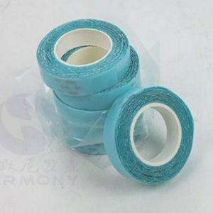 2 Rollos / lote 1 cm * 3 m Cinta adhesiva de cinta de encaje de color azul Super Tape para extensión de cabello ENVÍO GRATIS