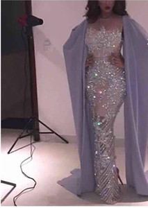2017 Sexy Sirena Completa perline Custom Made Lunga Prom Africana Figura intera Celebrity Abiti da sera