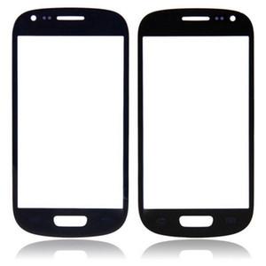 Envío de DHL Cubierta de la pantalla táctil del digitalizador de la lente de cristal frontal exterior para Samsung Galaxy S3 SIII I9300 Negro Blanco de alta calidad