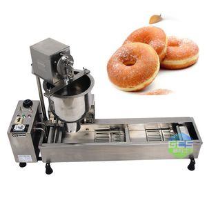송료 무료 상업 완전 자동 도넛 기계 110V 220 3000W 스테인레스 스틸 도넛 메이커 3 개의 금형