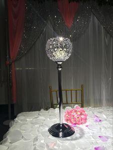 cristaux de luxe en gros suspendus centres de mariage pour les fleurs