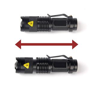 Super SK68 3-Mode SOS Q5 7W Mini Schwarz XPE 1200Lm Zoom Led Taschenlampe F00297 SPDH