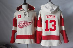 Detroit Red Wings sudaderas con capucha camisetas en blanco Pavel Datsyuk Henrik Zetterberg Niklas Kronwall Dylan Larkin Stephen Weiss sudaderas con capucha Sudaderas